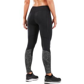 2XU Reflect Run Mid-Rise Tights Women, black/silver glo reflective